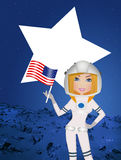 Astronaut woman to Mars Stock Photography