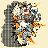 Astronauta łama ścianę ilustracji