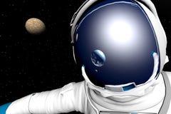 Astronauta stock de ilustración