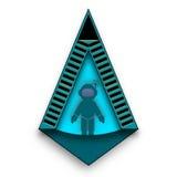 Astronauta alla entrata Logo Idea Immagini Stock