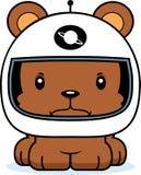 Astronauta arrabbiato Bear del fumetto Immagini Stock Libere da Diritti