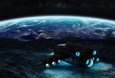 Astronauta bada asteroidy 3D renderingu elementy to i Fotografia Stock
