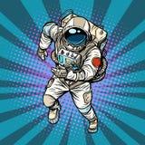 Astronauta bieg bohater przestrzeń ilustracja wektor
