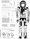 Astronauta Black Imagens de Stock