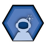 Astronauta blu Graphic Design Logo Fotografia Stock Libera da Diritti