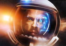 Astronauta científico futuro Foto de archivo libre de regalías