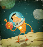 Astronauta comico Hero Immagini Stock