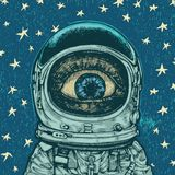 Astronauta da perplexidade Fotografia de Stock