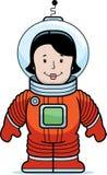 Astronauta de la mujer Imagen de archivo libre de regalías