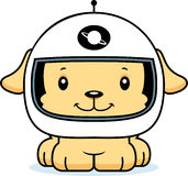 Astronauta de sorriso Puppy dos desenhos animados Imagens de Stock Royalty Free