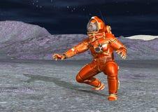 astronauta della rappresentazione 3D Fotografia Stock