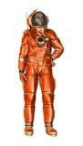 astronauta della rappresentazione 3D su bianco Fotografie Stock Libere da Diritti
