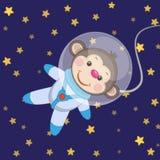 Astronauta della scimmia royalty illustrazione gratis