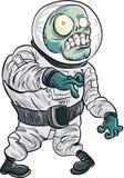 Astronauta dello zombie del fumetto Fotografie Stock Libere da Diritti