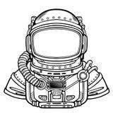 Astronauta di animazione in una tuta spaziale illustrazione di stock