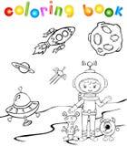 Astronauta divertente del aith del mostro Illustrazione di Stock