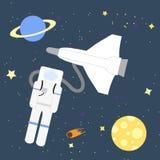 Astronauta do aventureiro do espaço Fotos de Stock