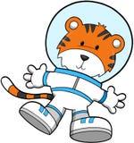 Astronauta do tigre ilustração stock