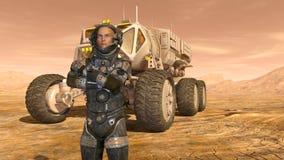 Astronauta e girovago dello spazio Immagini Stock