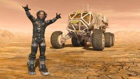 Astronauta e girovago dello spazio Fotografia Stock Libera da Diritti