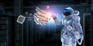 Astronauta e la sua missione Media misti Fotografia Stock Libera da Diritti