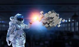Astronauta e la sua missione Media misti Fotografie Stock Libere da Diritti