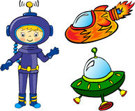 Astronauta e razzi Royalty Illustrazione gratis