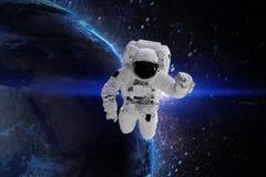 Astronauta Elementos desta imagem fornecidos pela NASA ilustração stock