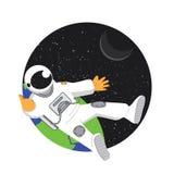 Astronauta en el ejemplo del espacio Foto de archivo libre de regalías