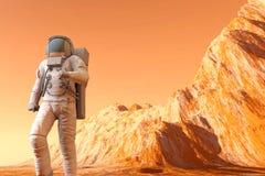 Astronauta en Marte