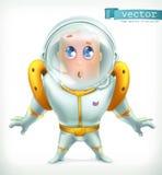 Astronauta en spacesuit Icono 3d del vector libre illustration