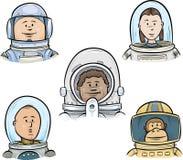 Astronauta Faces Foto de archivo