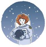 Astronauta femminile Immagini Stock Libere da Diritti