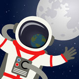 Astronauta hełm Odbija planety ziemię royalty ilustracja