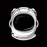 Astronauta hełma druk dla tshirt royalty ilustracja