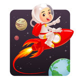 Astronauta Kid Foto de archivo