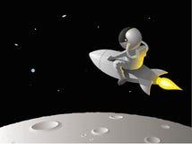 astronauta księżyc ilustracja wektor