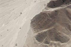 Astronauta, líneas de Nazca Fotos de archivo