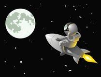 Astronauta a la luna Imagen de archivo libre de regalías