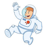 Astronauta mężczyzna kreskówka Fotografia Stock