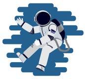 Astronauta macha jego rękę w nieważkości Fotografia Royalty Free