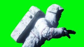Astronauta morto dello zombie nello spazio cadaver Schermo verde rappresentazione 3d royalty illustrazione gratis