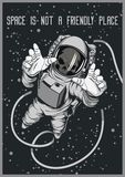 Astronauta morto Original Placard illustrazione di stock