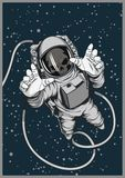 Astronauta morto Original Space Poster illustrazione vettoriale