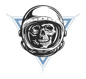 Astronauta muerto en spacesuit Foto de archivo