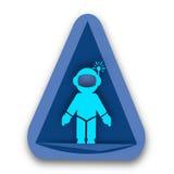 Astronauta na forma triangular Logo Ideas fotos de stock