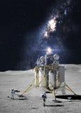 Astronauta na księżyc fotografia stock