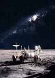 Astronauta na lua fotografia de stock