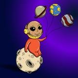 Astronauta na lua Imagem de Stock Royalty Free