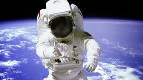 Astronauta Na Spacewalk zdjęcie wideo